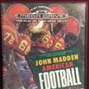 Videojuegos y Consolas: MEGADRIVE JOHN MADDEN AMERICAN FOOTBALL SIN MANUAL. Lote 160328752