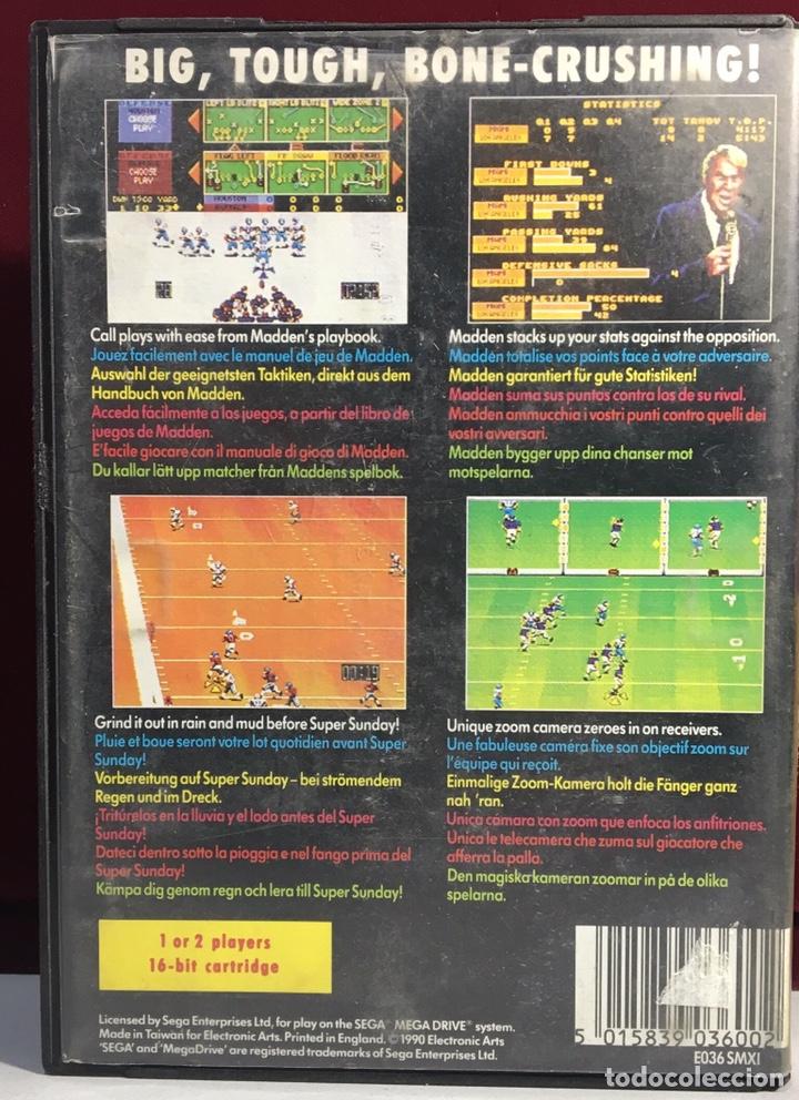 Videojuegos y Consolas: MEGADRIVE JOHN MADDEN AMERICAN FOOTBALL SIN MANUAL - Foto 2 - 160328752