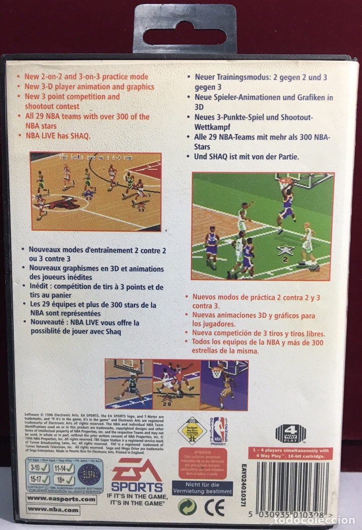 Videojuegos y Consolas: MEGADRIVE NBA LIVE 97 SIN MANUAL - Foto 2 - 160331017