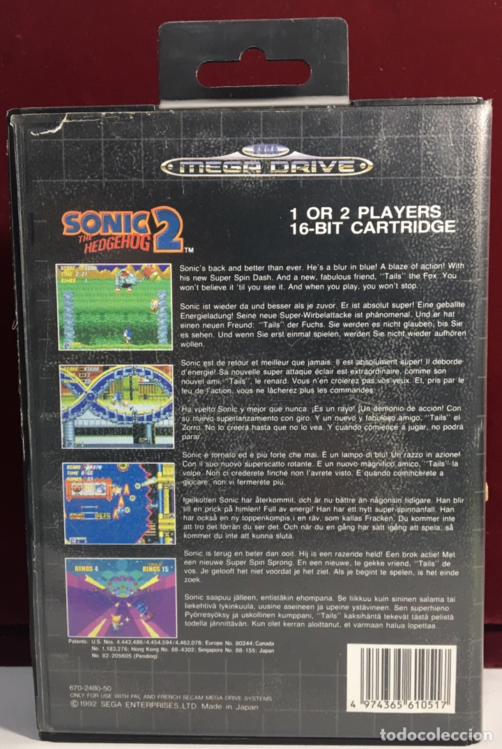 Video Games and Consoles: MEGADRIVE SONIC 2 THE HEDGEHOG 2 - Foto 2 - 160331142