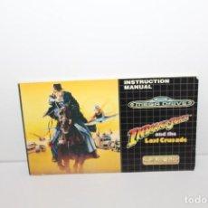 Jeux Vidéo et Consoles: MEGADRIVE SEGA MANUAL DE INSTRUCCIONES INDIANA JONER AND THE LAST CRUSADE U.S.GOLD. Lote 161639206
