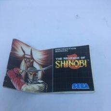 """Videojuegos y Consolas: LIBRO DE INSTRUCCIONES SEGA MEGADRIVE """"THE REVENGE OF SHINOBI"""". Lote 163977690"""