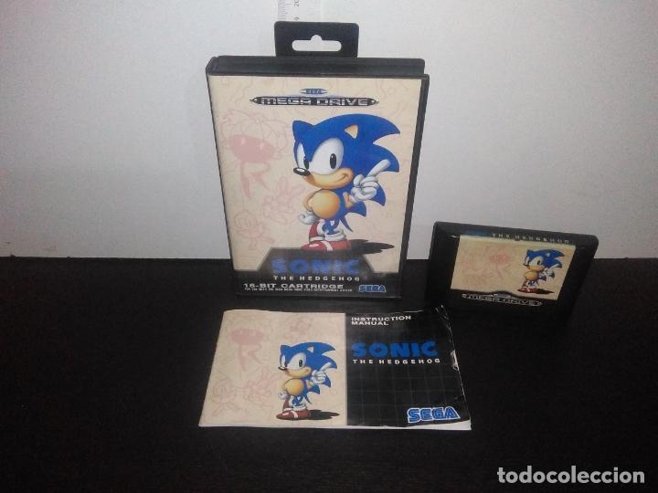 JUEGO SEGA MEGADRIVE SONIC MEGA DRIVE COMPLETO (Juguetes - Videojuegos y Consolas - Sega - MegaDrive)