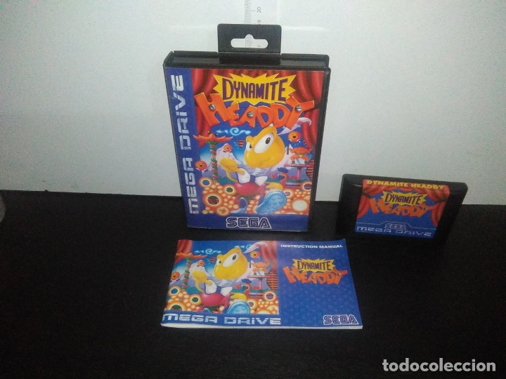 JUEGO SEGA MEGADRIVE DYNAMITE HEADDY MEGADRIVE MEGA DRIVE COMPLETO (Juguetes - Videojuegos y Consolas - Sega - MegaDrive)