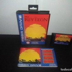 Videojuegos y Consolas: JUEGO SEGA MEGADRIVE EL REY LEON COMPLETO MEGA DRIVE. Lote 168980896