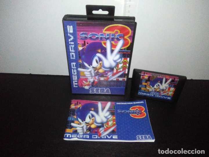 JUEGO SEGA MEGADRIVE SONIC 3 COMPLETO MEGA DRIVE (Juguetes - Videojuegos y Consolas - Sega - MegaDrive)
