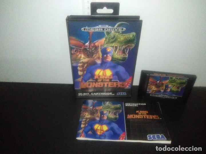 JUEGO SEGA MEGA DRIVE KING OF THE MONSTERS COMPLETO MEGADRIVE (Juguetes - Videojuegos y Consolas - Sega - MegaDrive)