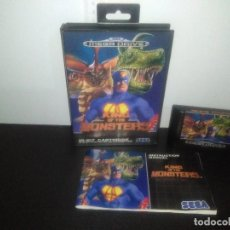 Videojuegos y Consolas: JUEGO SEGA MEGA DRIVE KING OF THE MONSTERS COMPLETO MEGADRIVE. Lote 169139148