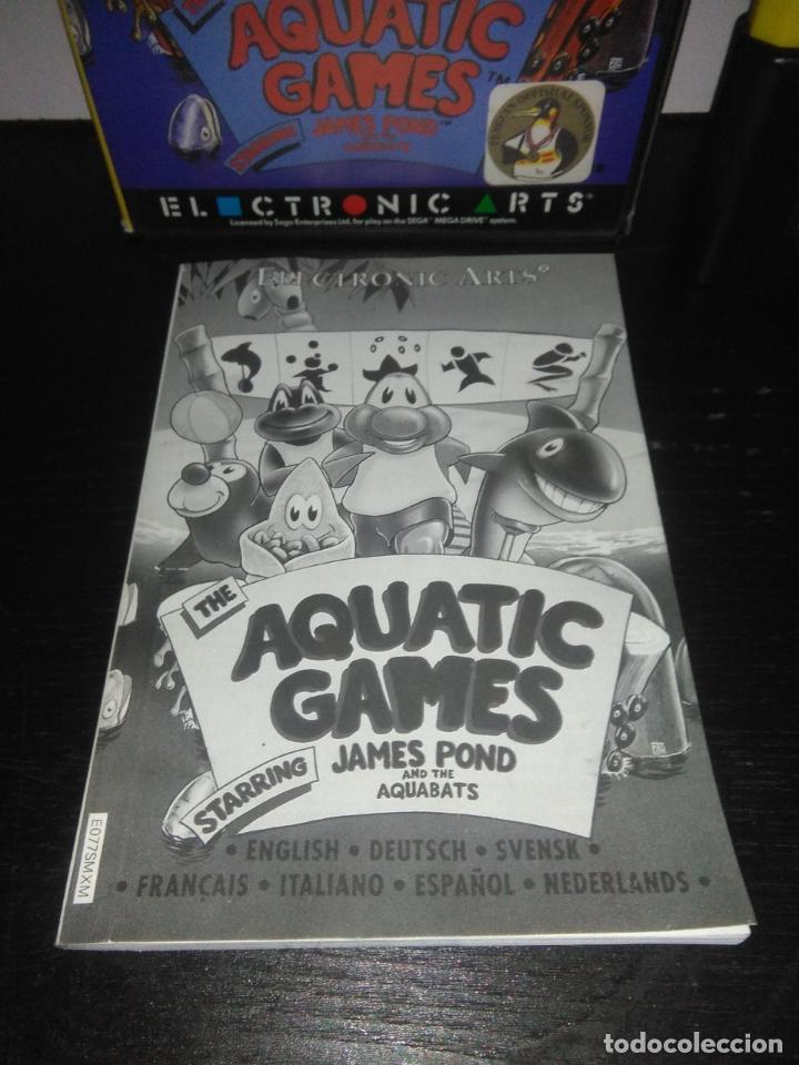 Videojuegos y Consolas: Juego sega megadrive Aquatic games megadrive completo mega drive - Foto 4 - 169181200