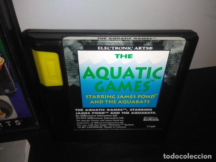 Videojuegos y Consolas: Juego sega megadrive Aquatic games megadrive completo mega drive - Foto 6 - 169181200