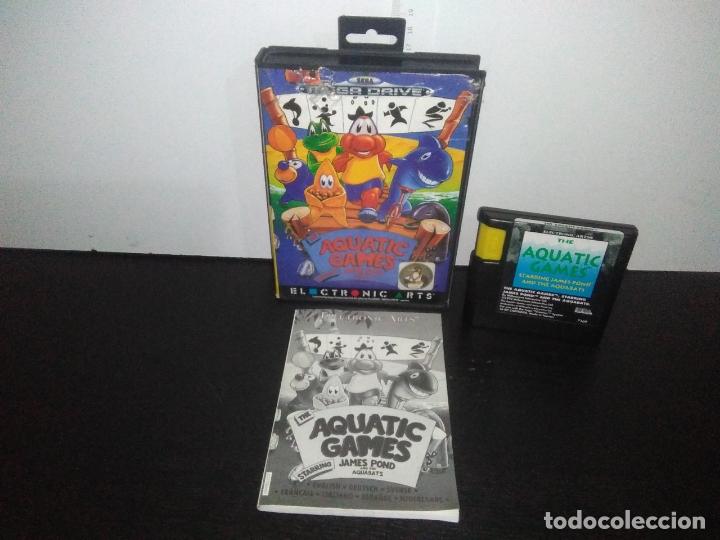 JUEGO SEGA MEGADRIVE AQUATIC GAMES MEGADRIVE COMPLETO MEGA DRIVE (Juguetes - Videojuegos y Consolas - Sega - MegaDrive)