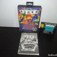 Videojuegos y Consolas: JUEGO SEGA MEGADRIVE AQUATIC GAMES MEGADRIVE COMPLETO MEGA DRIVE. Lote 169181200