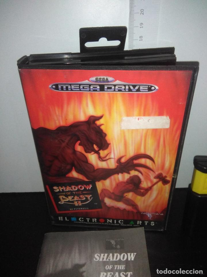 Videojuegos y Consolas: Juego sega megadrive Shadow of the beast 2 II mega drive completo - Foto 2 - 169204556