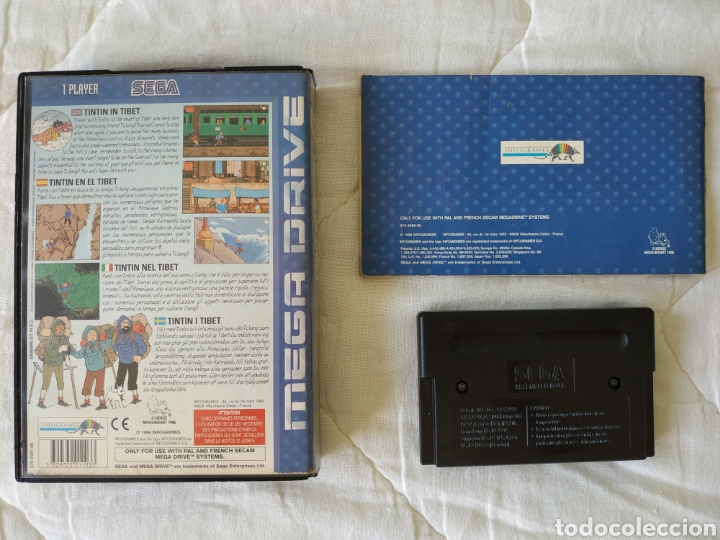 Videojuegos y Consolas: Tintin in Tibet MEGADRIVE - Foto 2 - 169415405