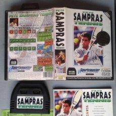 Videojuegos y Consolas: SEGA MEGA DRIVE PETE SAMPRAS TENNIS COMPLETO CAJA Y MANUAL BOXED CIB PAL R9229. Lote 169566084