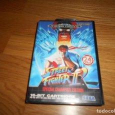 Videojuegos y Consolas: STREET FIGHTER II 2 PARA MEGA DRIVE SEGA CON CAJA E INSTRUCCIONES FUNCIONANDO. Lote 171709772