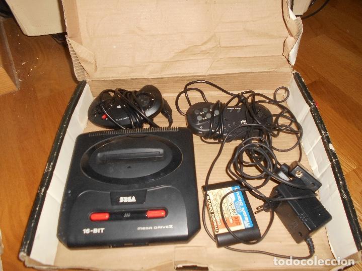 CONSOLA SEGA MEGA DRIVE II 16 BIT COMPLETA TODO ORIGINAL (Juguetes - Videojuegos y Consolas - Sega - MegaDrive)
