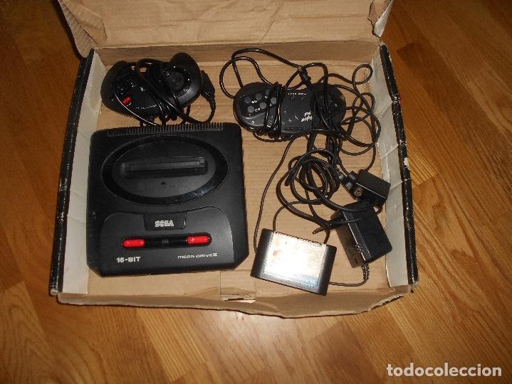 Videojuegos y Consolas: CONSOLA SEGA MEGA DRIVE II 16 BIT COMPLETA TODO ORIGINAL - Foto 2 - 171871337