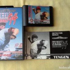 Videojuegos y Consolas: VIDEO JUEGO. MEGA DRIVE, RBI BASEBALL. PARA 1, 2, JUGADORES. CON LIBRO INSTRUCCIONES. PERFECTO.. Lote 175142837