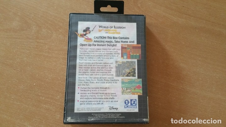 Videojuegos y Consolas: WORLD OF ILLUSION MICKEY MOUSE DONALD DUCK SEGA MEGADRIVE PAL - Foto 2 - 199259962