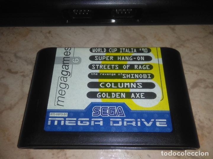 Videojuegos y Consolas: CONSOLA SEGA MEGADRIVE 2 CON 2 MANDos Y juego mega games 6 - Foto 5 - 177803883