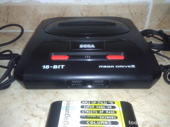 Videojuegos y Consolas: CONSOLA SEGA MEGADRIVE 2 CON 2 MANDos Y juego mega games 6 - Foto 8 - 177803883
