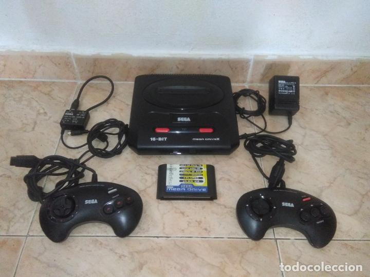 CONSOLA SEGA MEGADRIVE 2 CON 2 MANDOS Y JUEGO MEGA GAMES 6 (Juguetes - Videojuegos y Consolas - Sega - MegaDrive)
