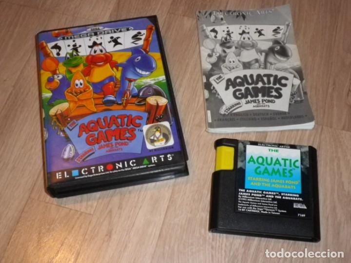 SEGA MEGADRIVE JUEGO AQUATIC GAMES COMPLETO (Juguetes - Videojuegos y Consolas - Sega - MegaDrive)
