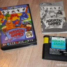 Videojuegos y Consolas: SEGA MEGADRIVE JUEGO AQUATIC GAMES COMPLETO. Lote 177893185