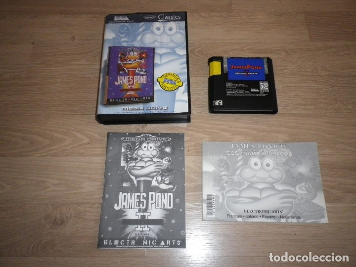 SEGA MEGADRIVE JUEGO JAMES POND II COMPLETO (VERSIÓN PORTUGUESA) (Juguetes - Videojuegos y Consolas - Sega - MegaDrive)