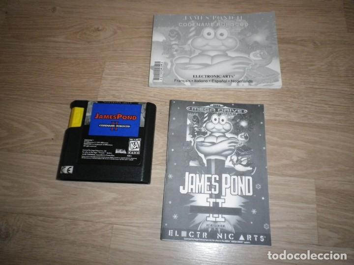 Videojuegos y Consolas: SEGA MEGADRIVE JUEGO JAMES POND II COMPLETO (VERSIÓN PORTUGUESA) - Foto 4 - 177893384