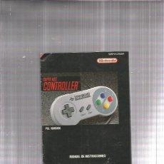 Videojuegos y Consolas: SUPER NINTENDO MANUAL INSTRUCCIONES. Lote 178929802