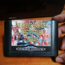 Videojuegos y Consolas: JUEGO SEGA MEGA DRIVE, GOLDEN AXE, STREETS OF RAGE, THE REVENGE OF SHINOBI. Lote 180227498