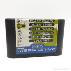 Videojuegos y Consolas: MEGAGAMES 6, WORD CUP ITALIA '90, ALIEN STORM, SUPER MONACO, SUPER THUNDERBLADE, COLUMNS,. MEGADRIVE. Lote 180236271