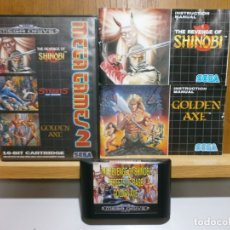 Videojuegos y Consolas: SEGA MEGA DRIVE MEGA GAMES 2 SHINOBI STREETS Y GOLDEN AXE. Lote 181499003
