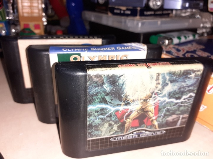 LOTE 3 VIDEO JUEGOS PARA SEGA MEGA DRIVE.GHOULS`N GHOSTS,SONIC Y ATLANTA 96. (Juguetes - Videojuegos y Consolas - Sega - MegaDrive)