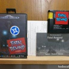Jeux Vidéo et Consoles: JUEGO SEGA MEGA DRIVE FATAL REWIND 100%100 ORIGINAL COMPLETO Y EN BUEN ESTADO. Lote 182994965