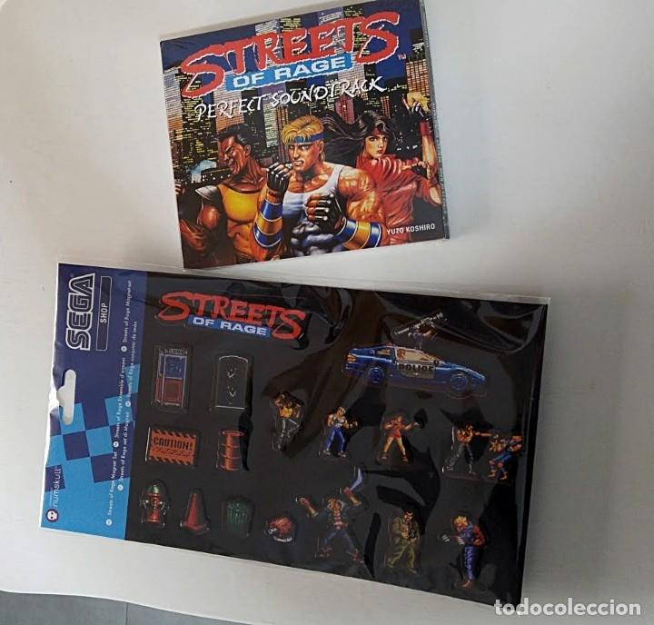 PACK ESPECIAL STREET OF RAGE (MEGADRIVE) JUEGO DE IMANES + CD BANDA SONORA (Juguetes - Videojuegos y Consolas - Sega - MegaDrive)