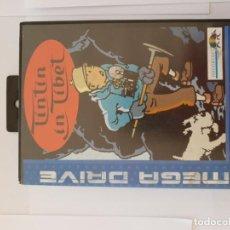 Videojuegos y Consolas: TINTIN IN TIBET SEGA MEGADRIVE BELGICA. Lote 183684398