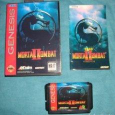 Videojuegos y Consolas: MORTAL KOMBAT II COMPLETO SEGA MEGA DRIVE MEGADRIVE GENESIS REPRO CLON. Lote 184101782