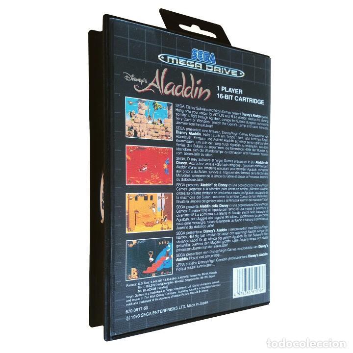 Videojuegos y Consolas: Aladdin / Juego Sega Mega Drive Megadrive / PAL / Disney Virgin 1993 - Foto 2 - 189367432