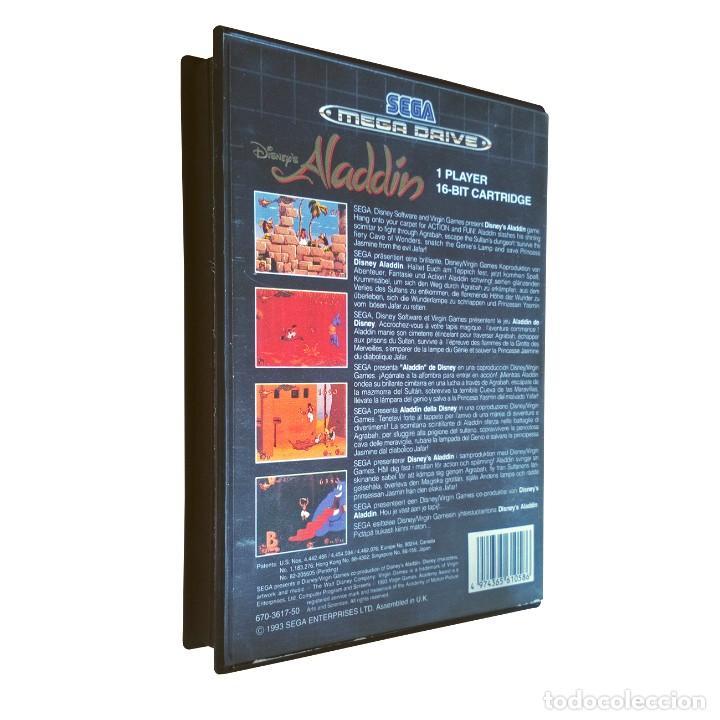 Videojuegos y Consolas: Aladdin / Juego Sega Mega Drive Megadrive / PAL / Disney Virgin 1993 - Foto 2 - 189364998