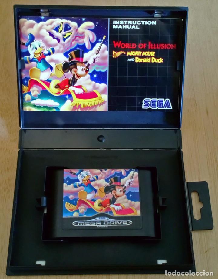 Videojuegos y Consolas: World of Illusion / Juego Sega Mega Drive Megadrive / PAL / Disney 1992 - Foto 3 - 191267036