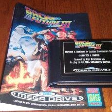 Videojuegos y Consolas: BACK TO THE FUTURE III MEGA DRIVE CARTUCHO Y PORTADA. Lote 194111196
