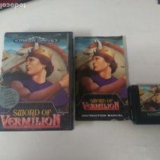 Videojuegos y Consolas: SWORD OF VERMILION PARA MEGADRIVE COMPLETO BUEN ESTADO ENTRE Y MIRE MIS OTROS ARTÍCULOS. Lote 194327668
