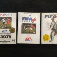 Videojuegos y Consolas: LOTE 3 JUEGOS MEGADRIVE. FIFA SOCCER, FIFA 96, FIFA 97. Lote 194501682