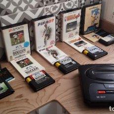 Videojuegos y Consolas: CONSOLA MEGA DRIVE II 60 HZ + 10 JUEGOS + CABLE RGB. Lote 195140467