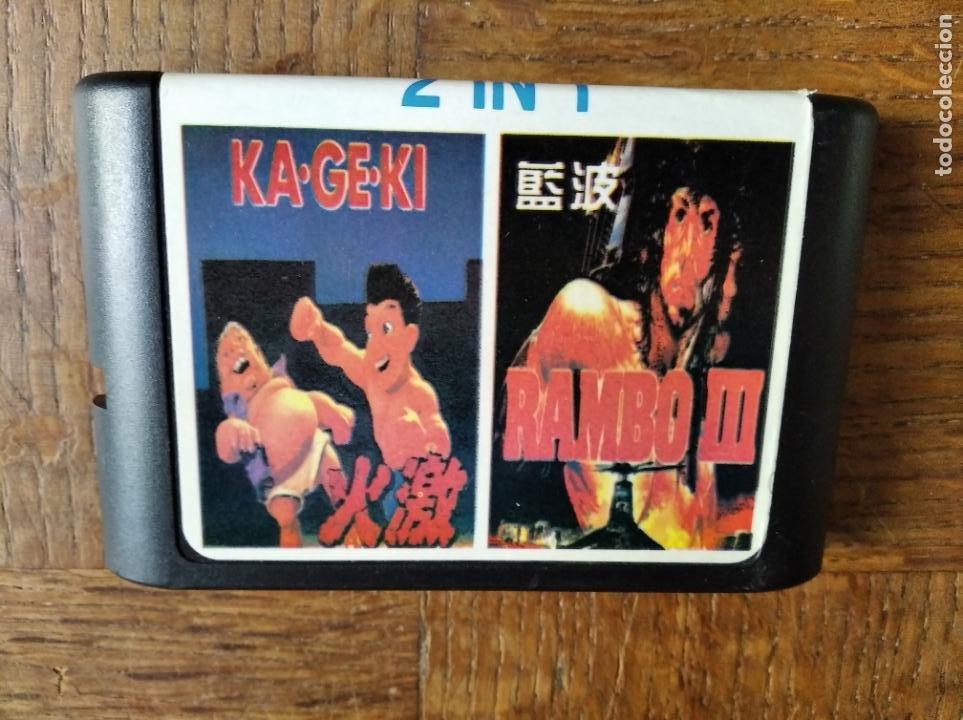 KA-GE-KI & RAMBO III - RARO JUEGO 2IN1 DE MEGADRIVE - (Juguetes - Videojuegos y Consolas - Sega - MegaDrive)