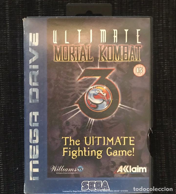 VIDEOJUEGO ULTIMATE MORTAL KOMBAT 3 III CON CAJA SIN MANUAL ORIGINAL MEGA DRIVE SEGA (Juguetes - Videojuegos y Consolas - Sega - MegaDrive)