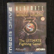 Videojuegos y Consolas: VIDEOJUEGO ULTIMATE MORTAL KOMBAT 3 III CON CAJA SIN MANUAL ORIGINAL MEGA DRIVE SEGA. Lote 197467067